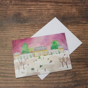 Exclusive 'Botanical Gardens in the Snow' Christmas Card