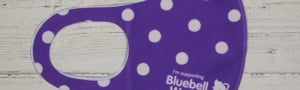 Bluebell Wood reusable polka dot face covering