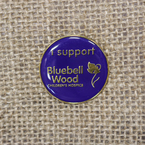 Circular Bluebell Wood badge