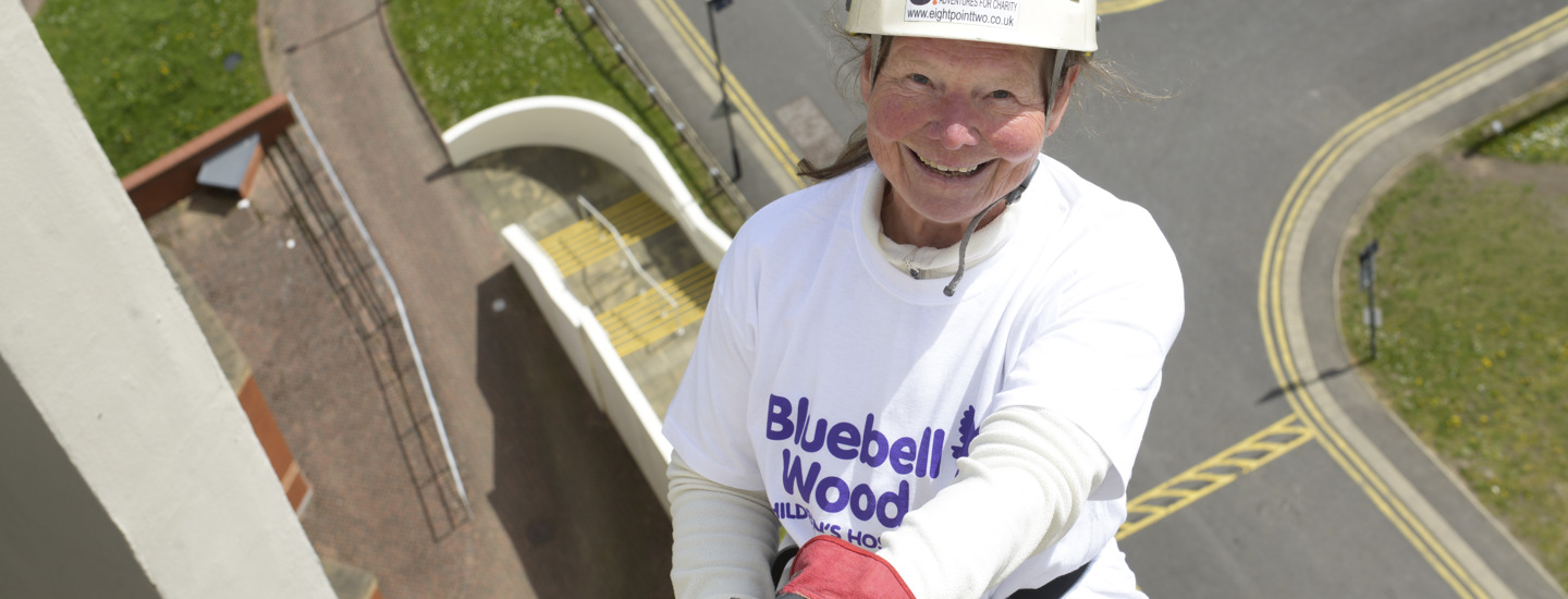 Fundraisers go 'over the edge' for Bluebell Wood