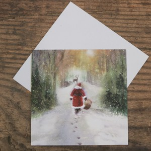 'Santa's Path Home' Christmas card