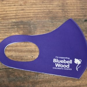 Bluebell Wood purple reusable face covering