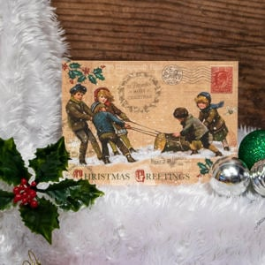 'Victorian Fun' Christmas Card