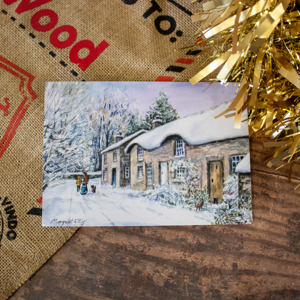 Exclusive 'Thatched Cottages at Baslow' Christmas Card