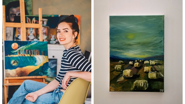 Up-and-coming artist takes on epic 30 paintings in 30 days challenge for Bluebell Wood