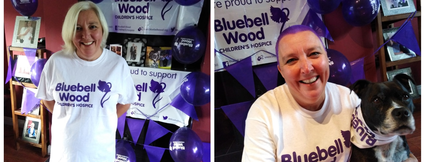 From flowing silver locks to close-cropped purple – mum ditches hair for Bluebell wood