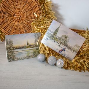 Exclusive 'Winter in Clumber' Christmas Card Twin Pack