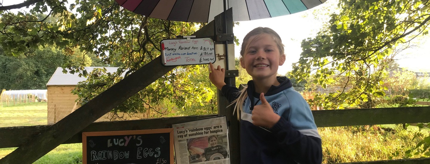 Kind-hearted Lucy, 9, raises £1,000 through her deliciously popular 'rainbow eggs'