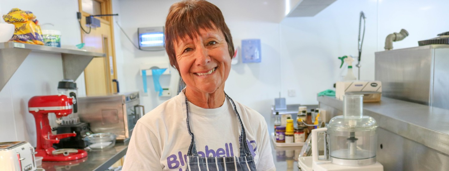 Retired teacher Morag has learned the ropes in the hospice kitchen