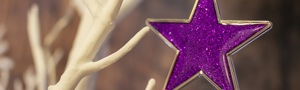 Twinkling purple star ornament