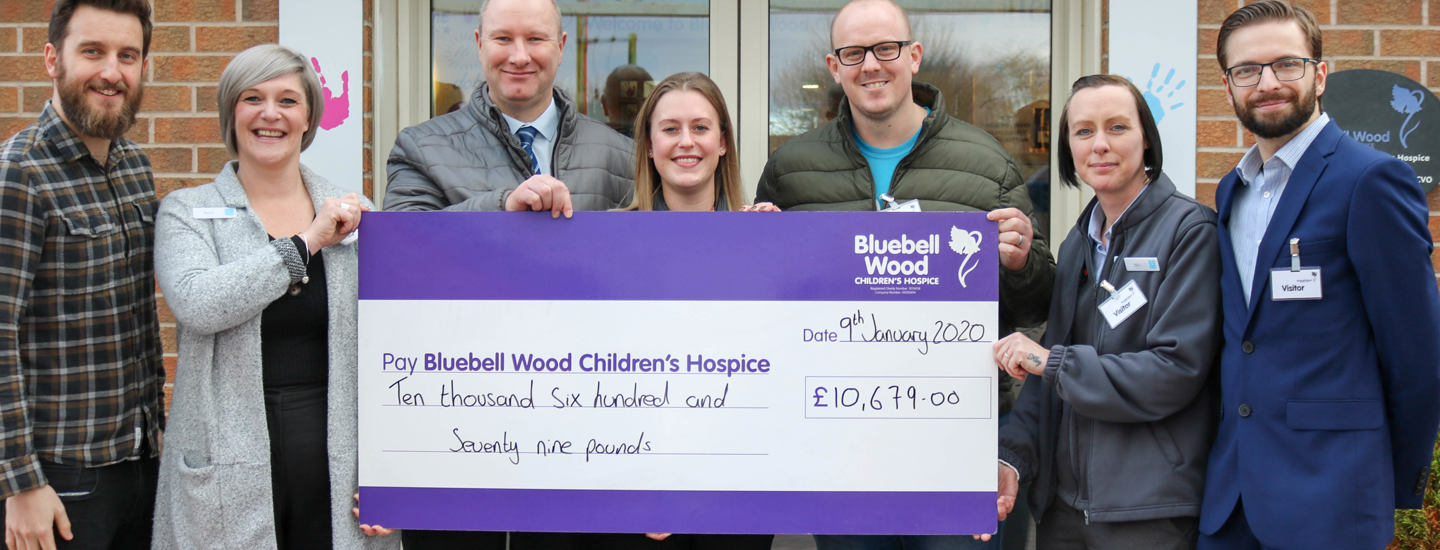 Co-op pulls out all the stops to raise more than £10,000 for Bluebell Wood Children's Hospice