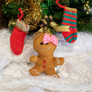 Gingerbread woman toy ornament