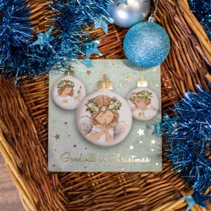 'Angel Baubles' Christmas Card