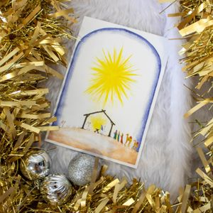 'Starlight Nativity' Christmas Card