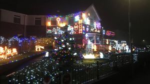 Maltby couple's award-winning Christmas lights raise over £4,000 for Bluebell Wood