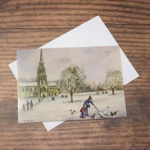 'Winter in Clumber' Christmas Card Twin Pack