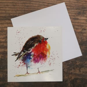 'Fluffy Robin' Christmas Card