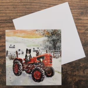 'Driving the Tractor' Christmas Card