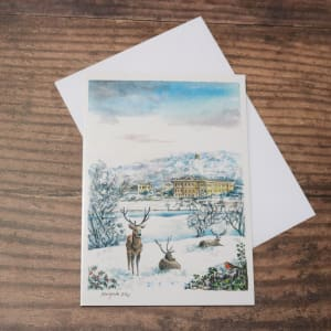 'Chatsworth House in Winter' Christmas Card