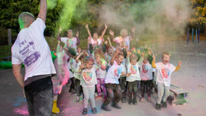 Rotherham school sees out the half-term in multi-coloured style